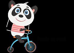 Panda on road